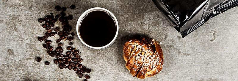 Kaffe och bulle Viskan